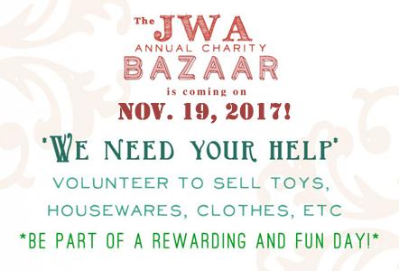 Volunteer to Help at the Bazaar!