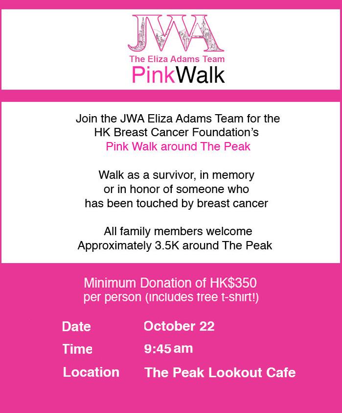 Pink Walk Eliza Adams team - 22 October 2017
