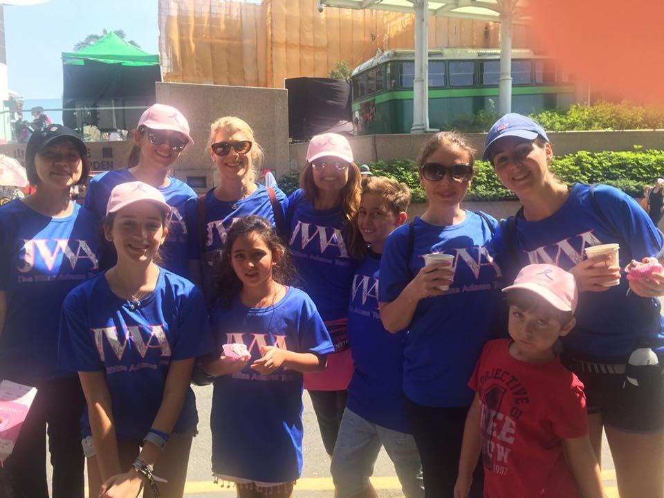 JWA Eliza Adams Pink Walk 2017