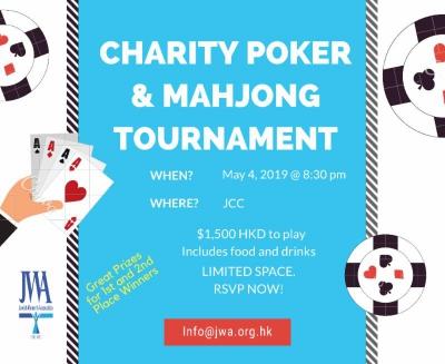 May 4, 2019 - JWA Charity Poker & Mahjong