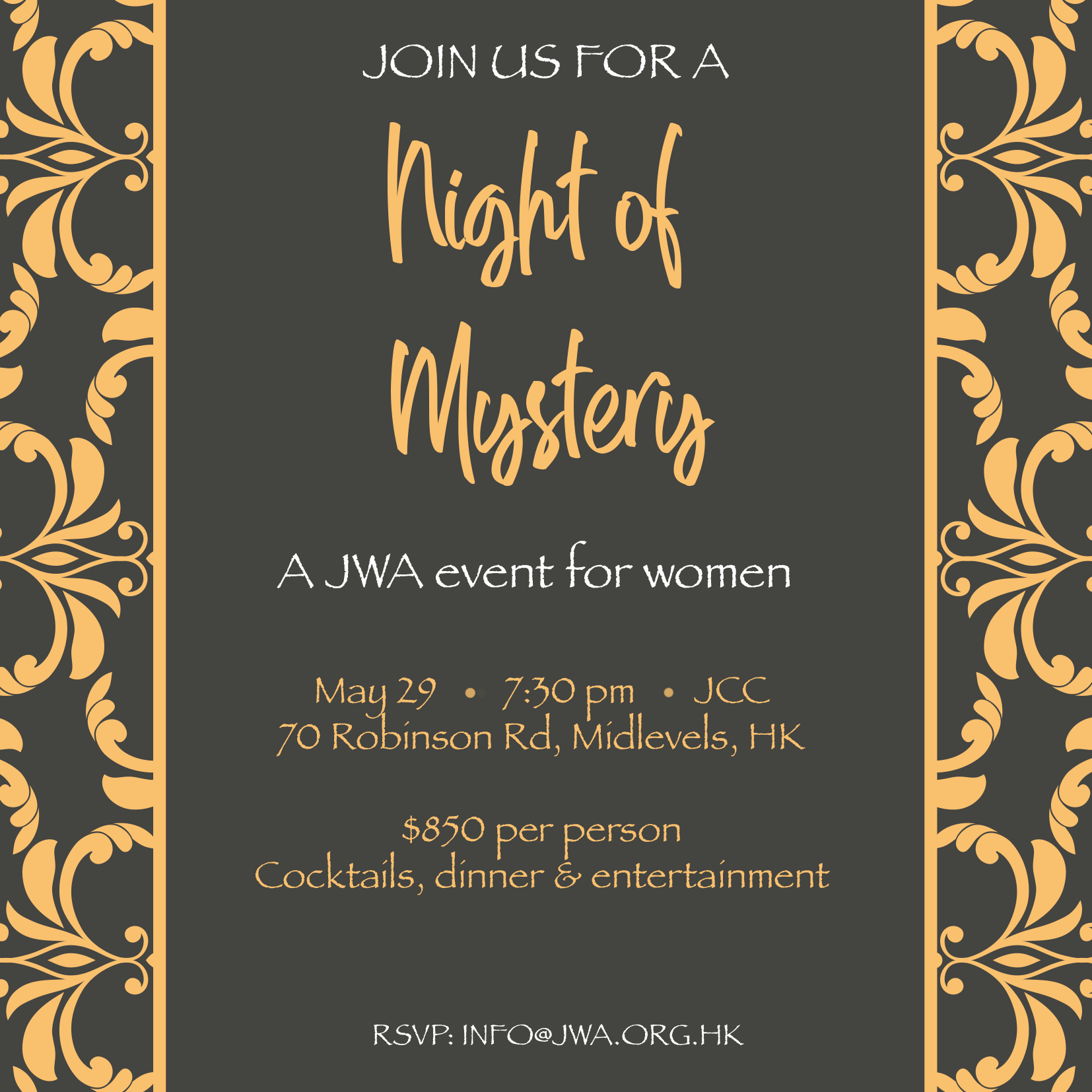 JWA Women's Event - A Night of Mystery - 29 May 2019